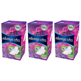 Always Radiant Heavy Feminine Pads with Wings - Pack of 3