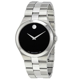 Movado Black Dial Stainless Steel Men's Watch