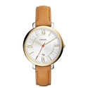 Fossil Jacqueline Gold-Tone Women's Stainless Steel Watch with Leather Band