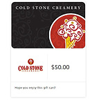 $50 Cold Stone Gift Card