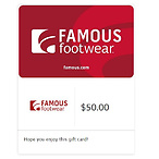 $50 Famous Footwear Gift Card