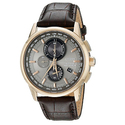 Citizen Men's AT8113-04H World Chronograph A-T Analog Display Japanese Quartz Silver Watch