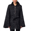Coats Direct: Laundry by Shelli Segal Tweed Belted Cape