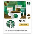 Starbucks 送$5 Amazon 礼卡