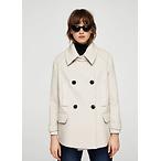 双排扣羊毛短款大衣