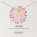 Dogeared 'Wish' 金色锁骨链