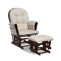 Stork Craft Hoop Glider and Ottoman Set - Espresso/Beige