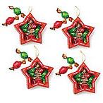 Star Ornament Set of 4