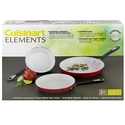 Cuisinart Elements White 不粘煎锅3件套