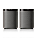 Sonos PLAY:1 2-Room Wireless Smart Speakersfor Streaming Music, Starter Set Bundle (Black)