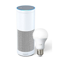 Echo Plus with built-in Hub + Philips Hue Bulb included
