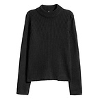 罗纹针织毛衣