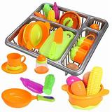 Arshiner Play Kitchen Toys Washing Dish Rack Set