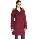 Tommy Hilfiger Women's Long Chevron Quilted Down Alternative Coat
