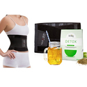 Women's Waist Cincher Belt with Weight Loss Detox Tea