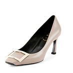 RV 7厘米石色牛皮高跟鞋