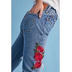 Levis 501 高腰直筒牛仔裤