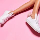 Minna Parikka 20mm Leather Bunny Tail Sneakers