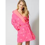 Neon star fleece robe