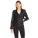 Calvin Klein Jeans Women's Heavy Metal Biker Jacket, Black, Medium