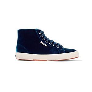 Superga Velvet High-top Sneakers - Blue