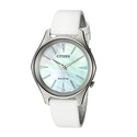 Citizen Women's 'Eco-Drive' Quartz Stainless Steel and Leather Dress Watch