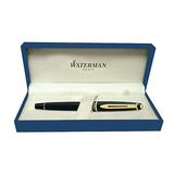 Waterman Expert Black with Golden Trim Fountain Pen