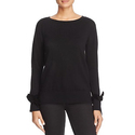 MICHAEL Michael Kors Velvet Bow Cuff Sweater