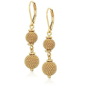 Anne Klein Gold-Tone Leverback Drop Earrings