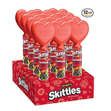 Skittles Original Valentine's Day Candy Filled Heart Cane (Pack of 12)