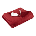 Sunbeam TSM8US- R310-25B00 Microplush Heated Throw, Garnet