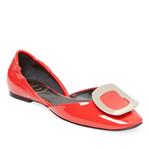 Gilt: 22% OFF on Roger Vivier Leather D'orsay Flats