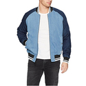 Calvin Klein Men's Denim Baseball Logo Bomber Jacket
