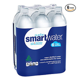 Glaceau Smartwater Vapor Distilled Water 1L * 6ct