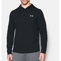 Under Armour Men's Waffle Hoodie, Black/Steel, Medium