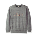 Calvin Klein Jeans Men's Distressed Crew Neck Sweatshirt