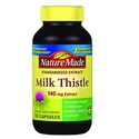 Nature Made Milk Thistle 140 mg Capsules 50 Ct
