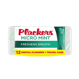 Plackers Micro Flosser with Travel Case 12 Count