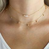 Dogeared 纯银珍珠项链2件套