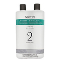 Nioxin System 2 Cleanser & Scalp Therapy for Fine Thinning Hair Duo