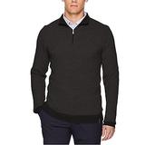 Calvin Klein Men's Merino Textured Tweed 1/4 Zip Sweater