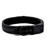 Black Pet Soft & Comfortable Neoprene Leather Dog Collar