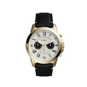 Fossil Men's FS5272 Grant Chronograph Black Leather Watch