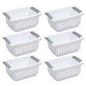 Sterilite Small Stacking Basket 6-Pack