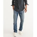 楔形牛仔裤
