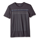 Calvin Klein Jeans Men's Short Sleeve Mirror Image Logo Crew Neck T-Shirt