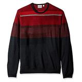 Calvin Klein Men's Merino Color Block Ottoman Crew Neck Sweater