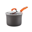 Rachael Ray Hard-Anodized Aluminum Nonstick 3-Quart Covered Saucepan