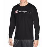 Champion Graphic Jersey Long Sleeve Crew Neck T-Shirt