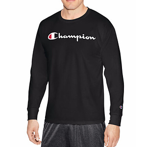 Champion Graphic Jersey Long Sleeve Crew Neck T-Shirt